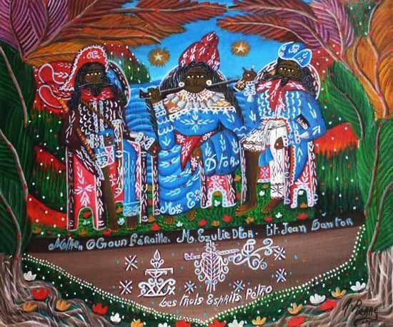 Haitian Art by Andre Pierre - Gallery Macondo, www.artshaitian.com