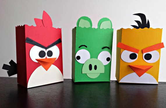 Angry Birds Treat Boxes Set of 3 by SweetBoxshop on Etsy