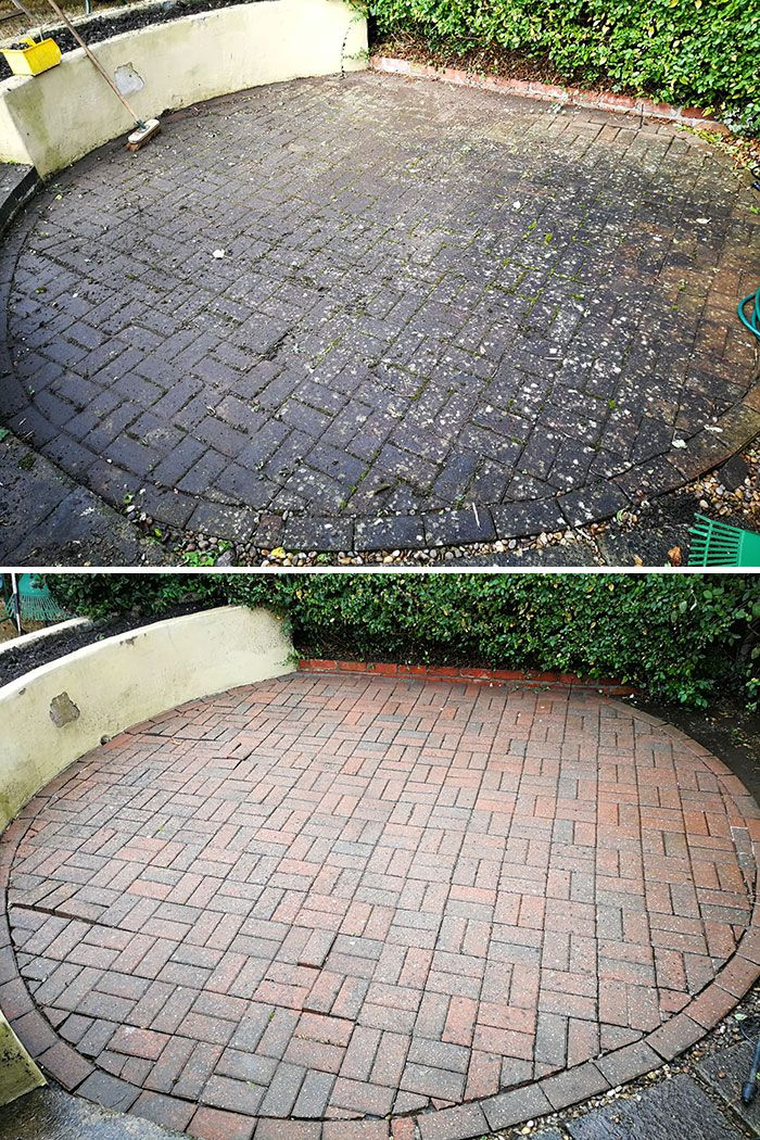 Before After Pic But I Like The Circular Patio Shape Brick