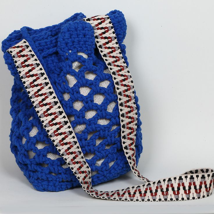Handmade crochet bucket bag