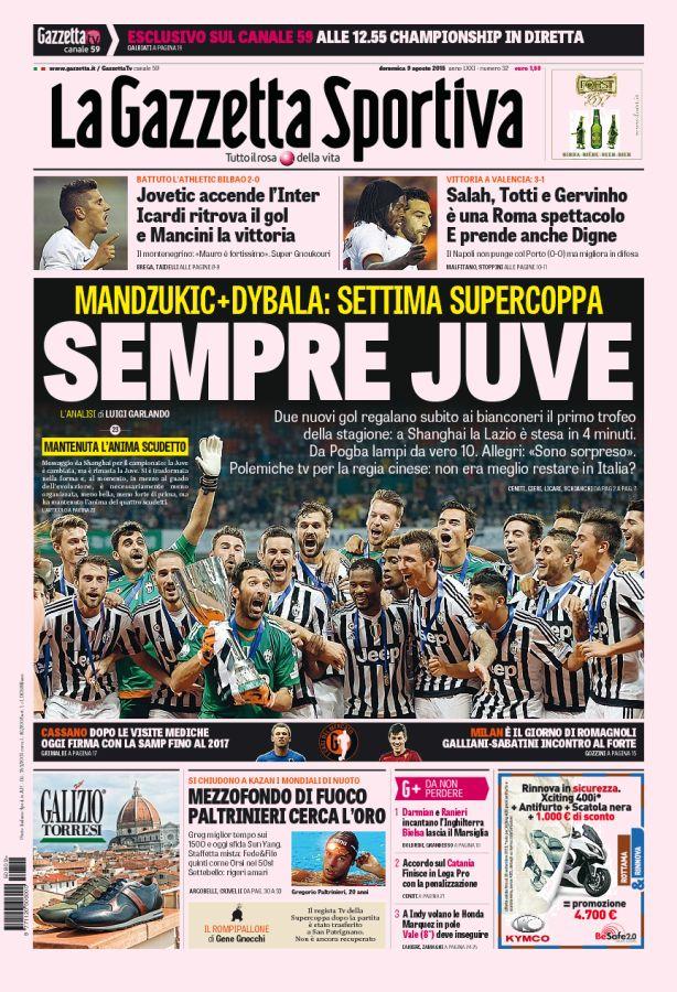 9 agosto 2015 - Supercoppa Italiana