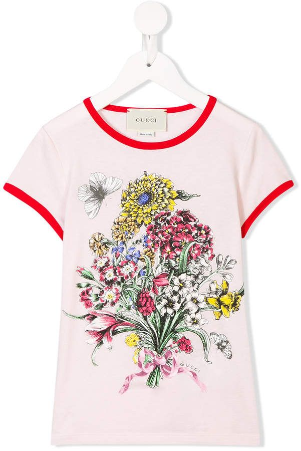 7b80aea59 Gucci Kids Floral Print T-shirt - Farfetch Buy Gucci, Gucci Kids, My