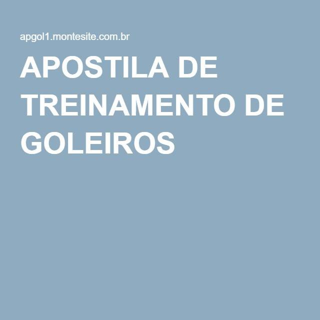 APOSTILA DE TREINAMENTO DE GOLEIROS