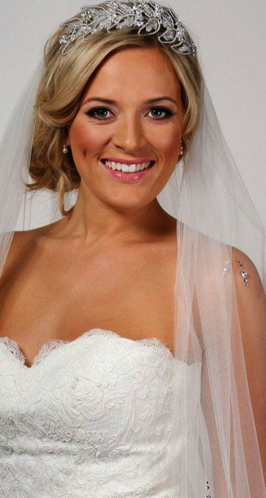 Wedding Hairstyles For Medium Hair With Veil And Tiara amid Weddingwire Button c…