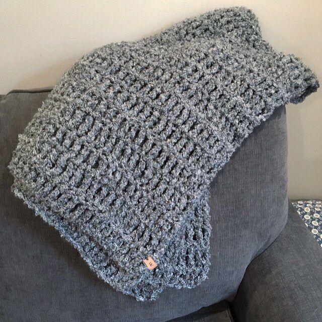 Easy crochet blanket / gray blanket / Crochet afghan