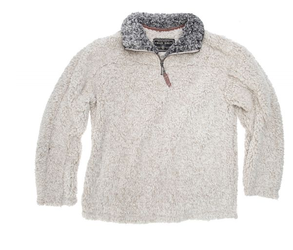 TRUE GRIT-Frosty Tipped 1/4 Zip Pullover