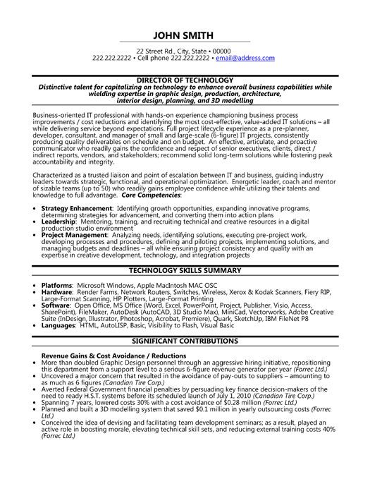 click here to download this director of technology resume template httpwww - Information Technology Resume Template