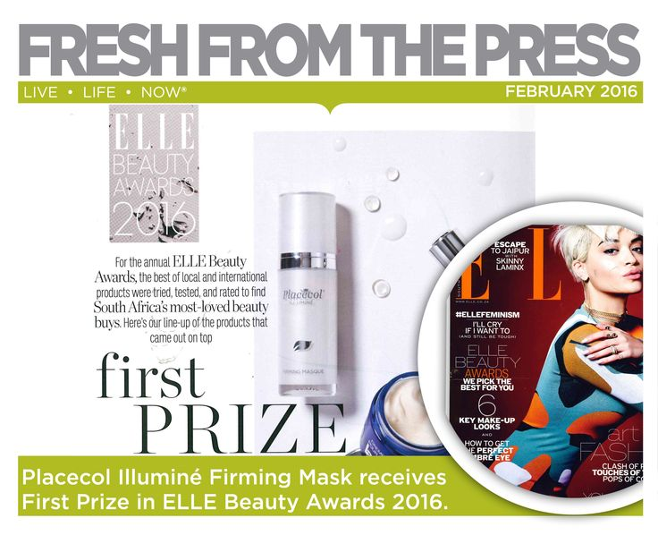 For the annual ELLE Beauty Awards, the best of local and international products were tried, tested and rated to find South Africa's most- loved beauty buys. Illuminé Firming Mask was rated best face mask 2016. ‪#‎FreshSkin‬ ‪#‎IlluminateYourSkin‬ ‪#‎FreshFromThePress‬