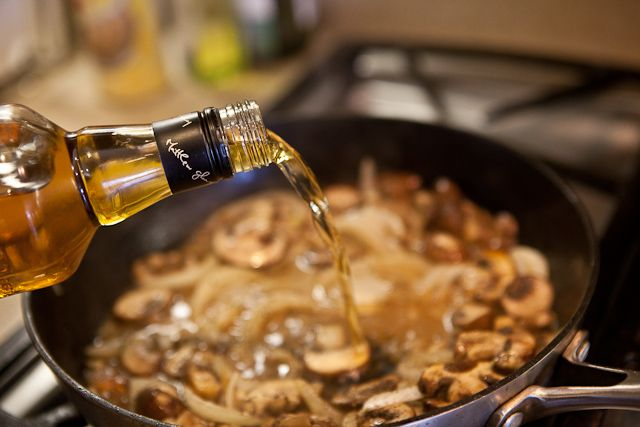 Porterhouse Steak with Whisky Mushroom Sauce Recipe | Steamy Kitchen Recipes