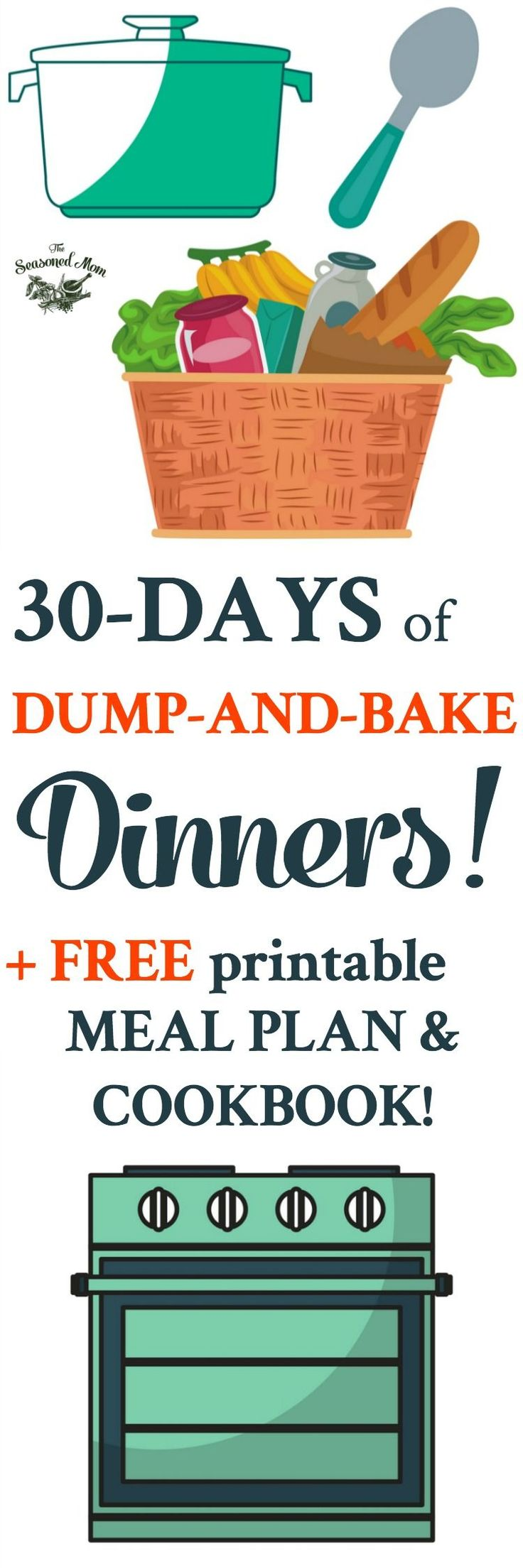 30 Days of Dump-and-Bake Dinners! Meal Planning | Meal Prep | Easy Dinner Recipes | Dinner Ideas | Casserole Recipes | Dump and Go Recipes | Chicken Breast Recipes | Pasta Recipes | 5 Ingredient of Less Dinner Recipes