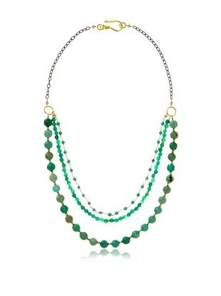 70% OFF Robindira Unsworth Triple Strand Turquoise Necklace