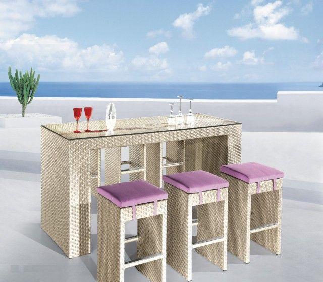 Choosing Space Saving Bar Height Patio Set Design Ideas