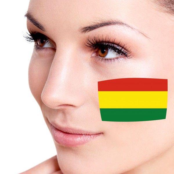 Look! My DIY : Flag of Bolivia facial tattoo , free shipping 2016 | diythinker.com