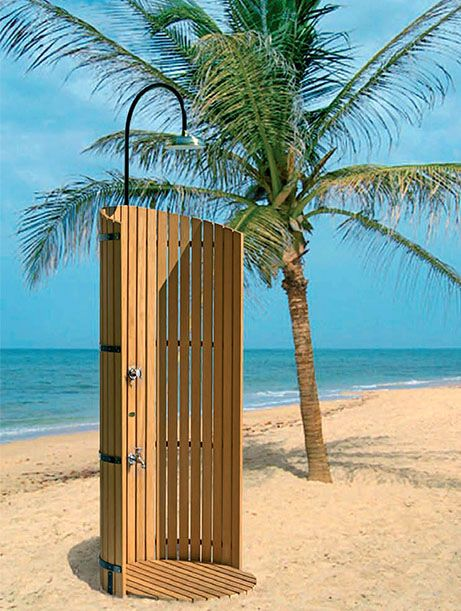 Beach Shower- Outdoor Shower Design Choices-The best part of summer is to be able to enjoy the water. Whether it be the pool, the lake, at the campground, or with your home outdoor shower you will want to make some preparations.The most basic question is do you want the shower to be portable or stationary? READ MORE: http://www.kitchenbathandspa.com/beach-shower/