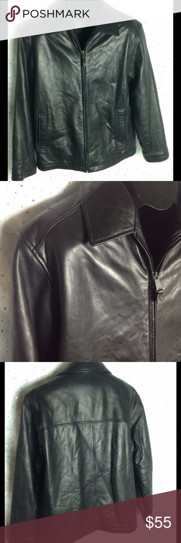 MEN'S Docker's Leather Quilted Jacket Coat (With images