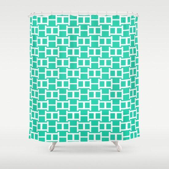 Shower Curtain Turquoise Bathroom Accessories Home Decor Modern