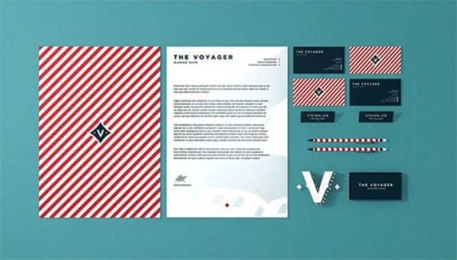 The Voyager Cafe - Contoh Corporate Identity untuk Branding Bisnis