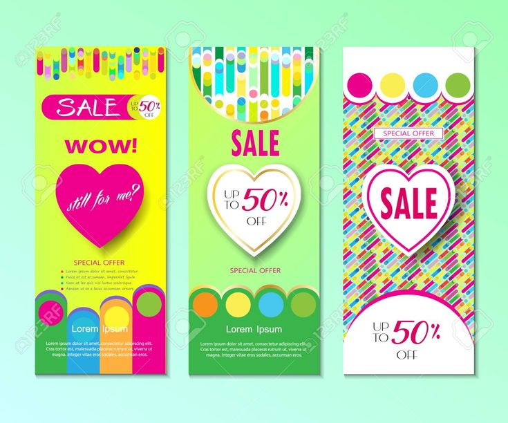 summer sale discount holiday travel advertising banners set template with dynamic colorful shapes li Stock Vector