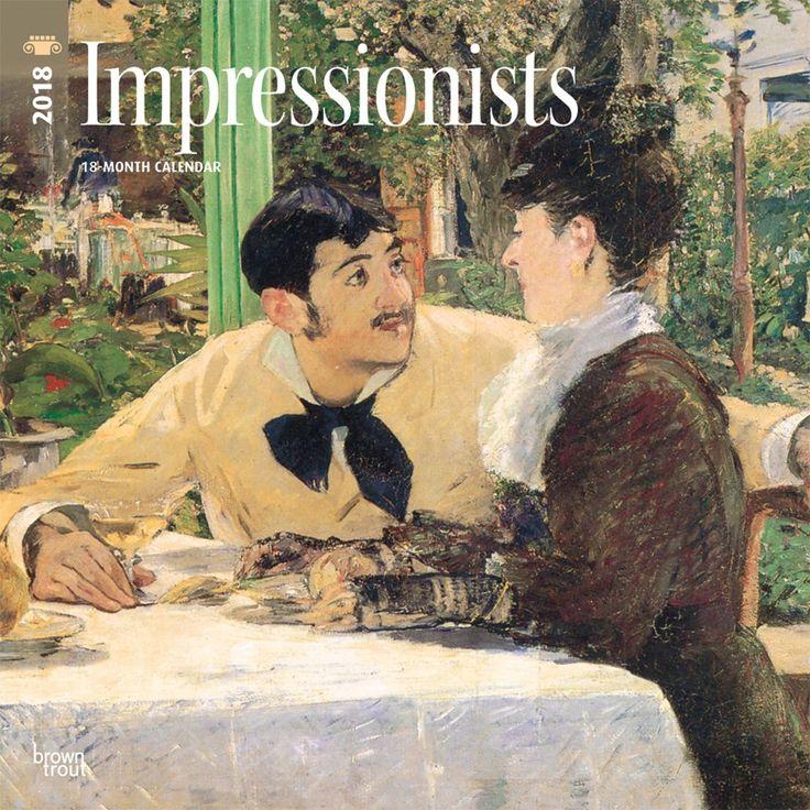 impressionists 2018 wall calendar impressionist and walls - Ausatmen Fans Ef34
