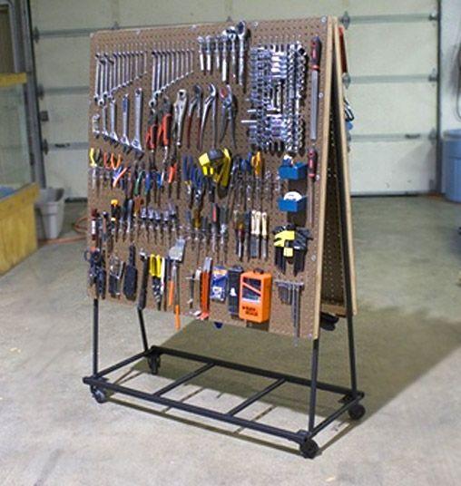 diy tool organizer. build a rolling pegboard tool organizer diy