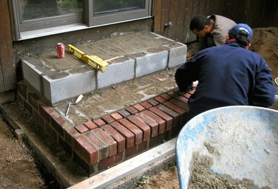 Masonry Brick Steps Construction