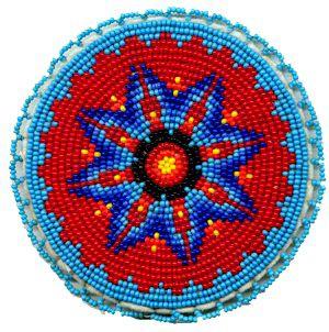 Native American Beaded Medallions   Beaded Rosettes