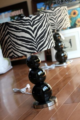 zebra lamp  very cute