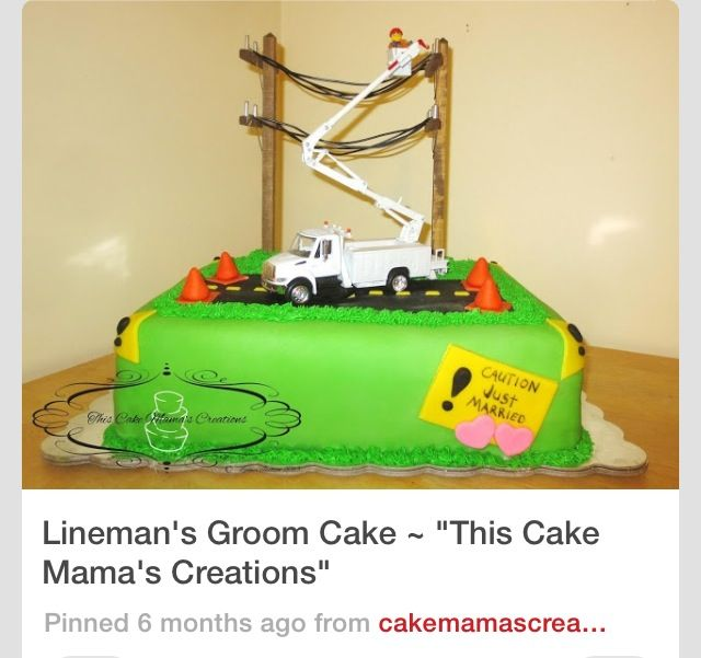 27 best cakes images on Pinterest | Birthday cakes, Lineman and ...