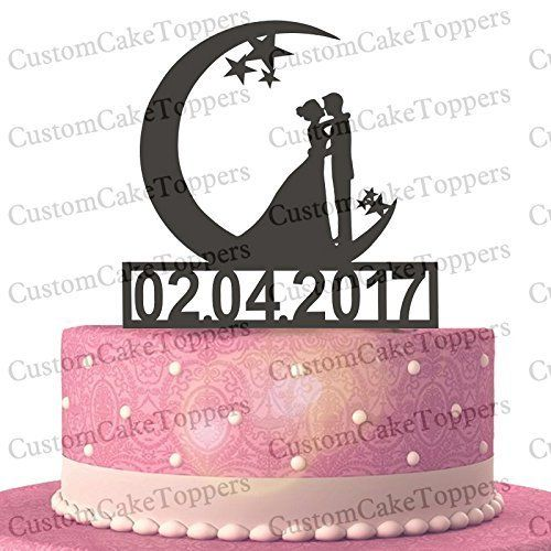 Bride and Groom Silhouette Moon and Stars Cake Topper Custom Personalized with Wedding Date (Multiple Color Optional). 【SHIPPING DETAILS】: To the United States needs to 15-20 working days. If you need the item so urgent and you can pay extra charges,we can help to arrange DHL.you will receive in about 5--8 business days. 【DHL fee payment link】: http://www.amazon.com/dp/B01CKMG5WC 【AFTER SALE】: If you have any questions for the shipping and product,please contact me asap.I will solve your...
