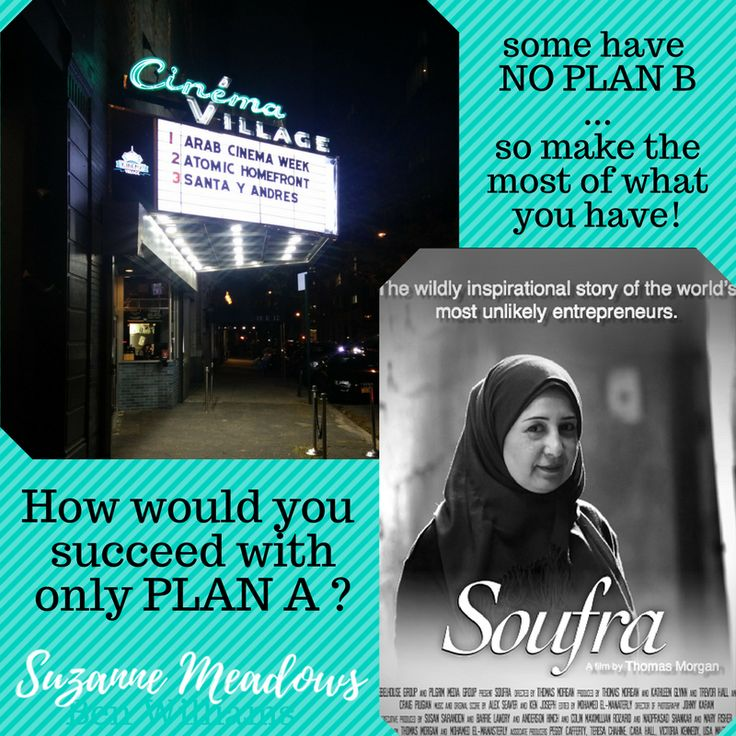 How would you succeed with only PLAN A ? Some have NO PLAN B. Make the most of what you have! See Arab Cinema Week for Arab Arts & Culture!  . . #arab #american #Brooklyn #NYC #NewYork #community  #bayridge #brooklynheights #parkslope #cobblehill #art  #culture #Cinema #soufra #film #positive