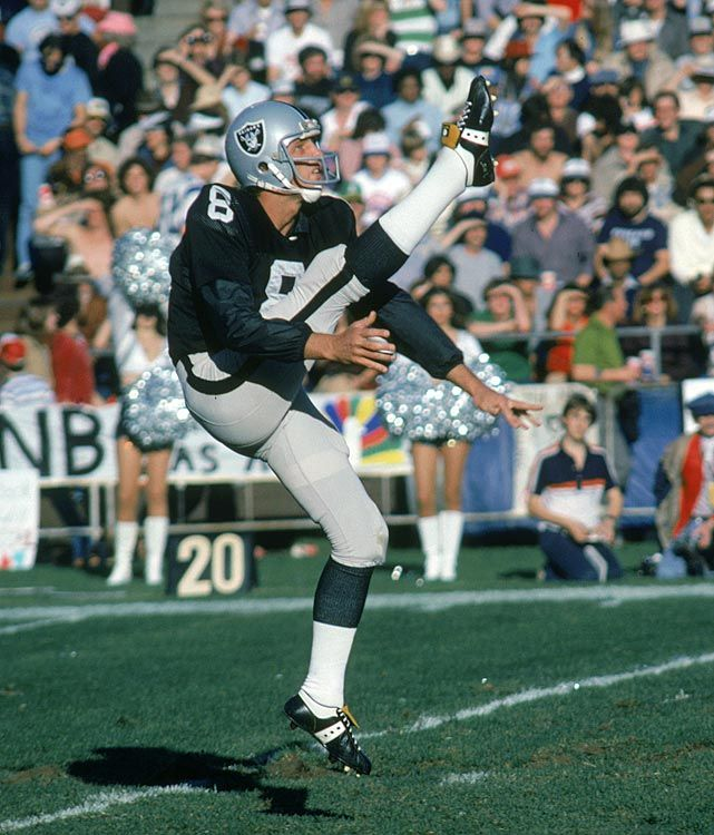 Best Player by Position Not in Hall of Fame - Punter: Ray Guy - In 14 seasons, all with the Raiders, Guy averaged 42.4 yards per punt and had only three of 1,049 punts blocked. He was a seven-time Pro Bowl pick and a three-time, first-team All-Pro selection. He was a Hall of Fame finalist in 1992, 1995, 1997, 1999, 2002, 2007 and 2008.