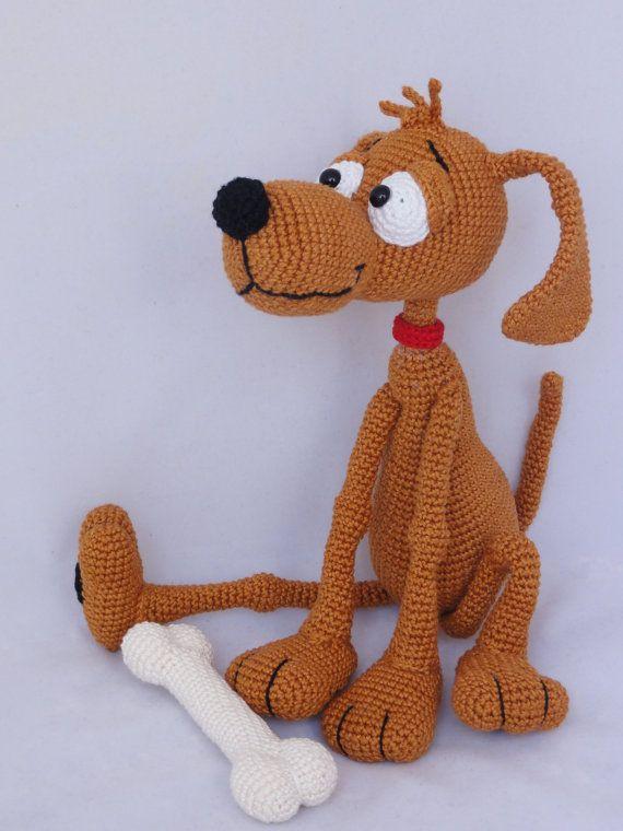 Amigurumi Crochet Pattern Doug the Dog от IlDikko на Etsy