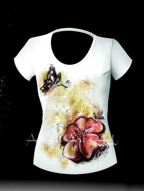 Tricou floare (90 LEI la ArtRALU.breslo.ro)