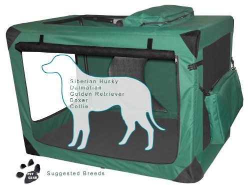Pet Gear Generation II Deluxe Portable Soft Crate for cats and dogs up to 90-pounds, Moss Green