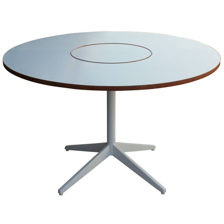 george nelson for herman miller table with lazy susan from a unique
