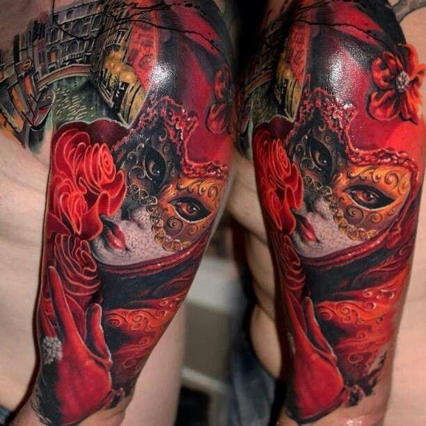 mardi gras tattoos | Mardi Gras tattoo masquerade tattoo | Tattoo Ideas