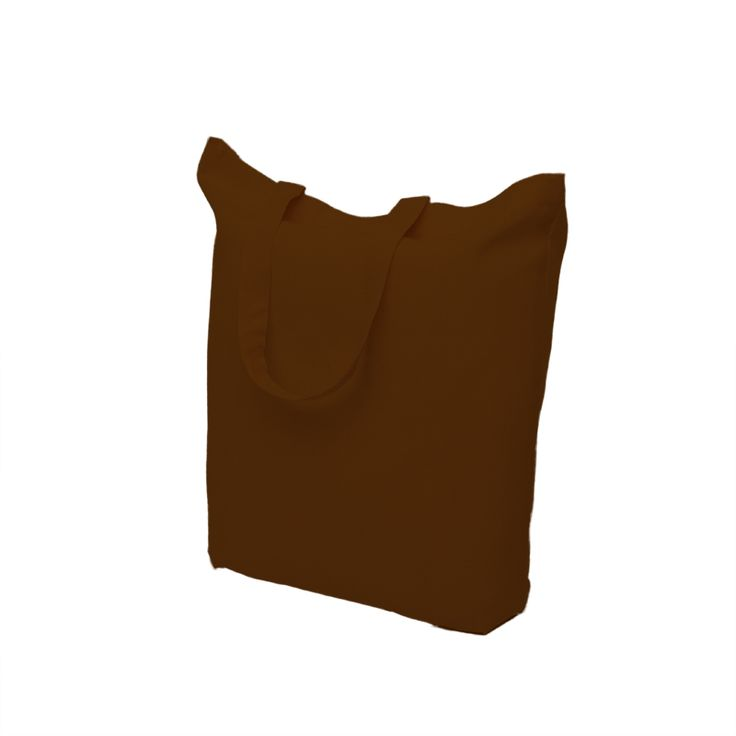 Brown cotton bag with short handle