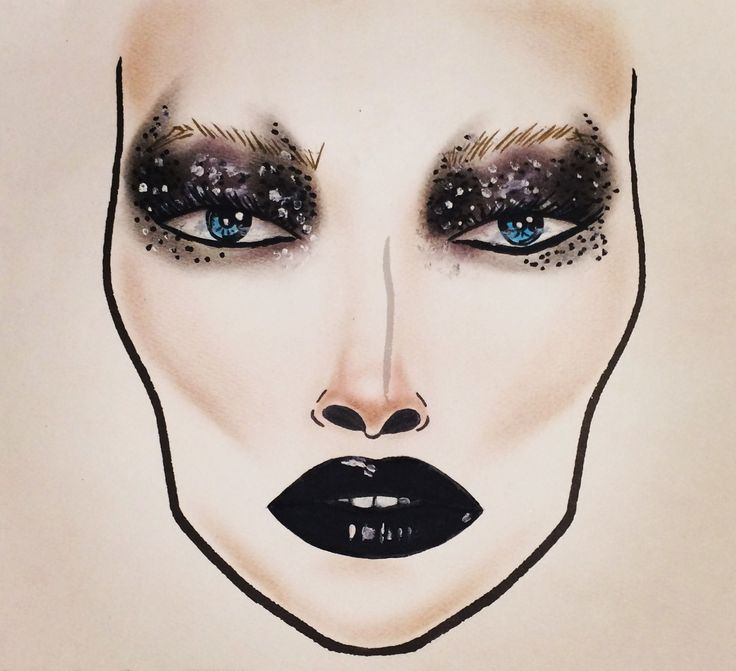 MAC Dark Desires inspired facechart