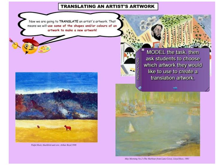 "This fabulous resource provides IWB support for the Stage 1 Visual Arts Unit of Work ""Beat Around The Bush. Students investigate a local natural environment and record responses in drawings and photographs. They look at how three artists respond to the environment. They explore ways of incorporating direct experiences and artist's interpretations into a new work. https://www.interactivelessons.com.au"