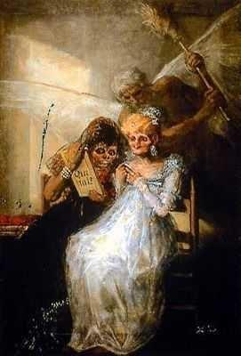 Les vieilles, par Francisco Goya