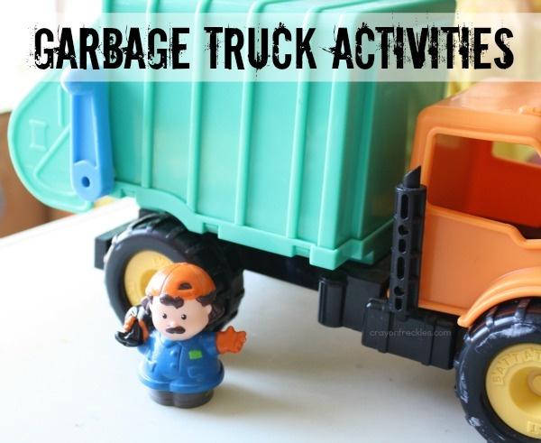 crayonfreckles: garbage truck preschool activities
