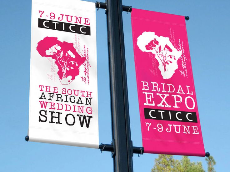 Flagpole design for The South African Wedding Show by Pink Pigeon Graphic Design © www.pinkpigeon.co.za
