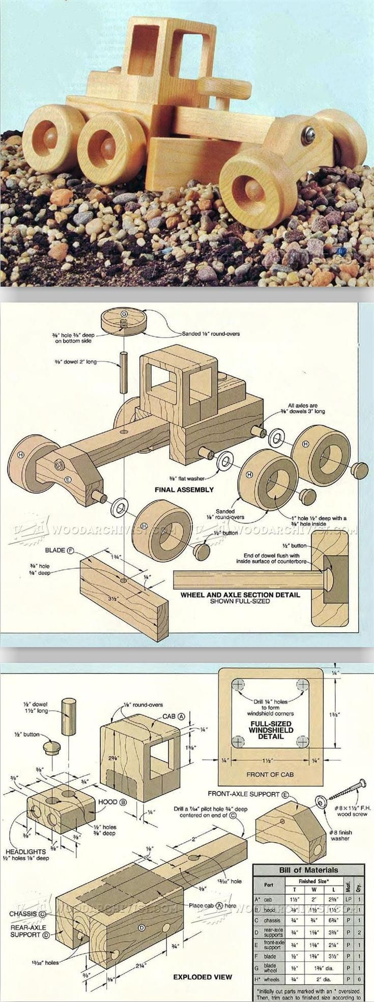 Road Grader - Wooden Toy Plans and Projects.