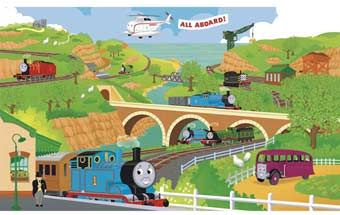 CREATIVE KIDS: If you could turn one room in your home into the Island of Sodor, which room would it be?RoomMates-Thomas-&-Friends-XL-Wall-Mural-9'-x-15'