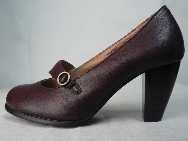 RIVERS WOMENS MAROON ROUNDED CLOSED HEEL WORK OFFICE LADIES SHOE SIZE 7/37