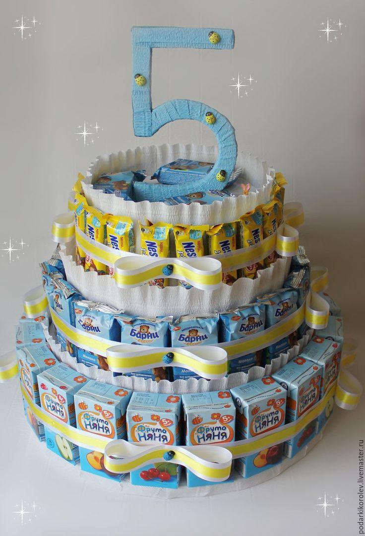 Купить Торт из сока, барни и Nesquik. В детский сад. На день рождения.