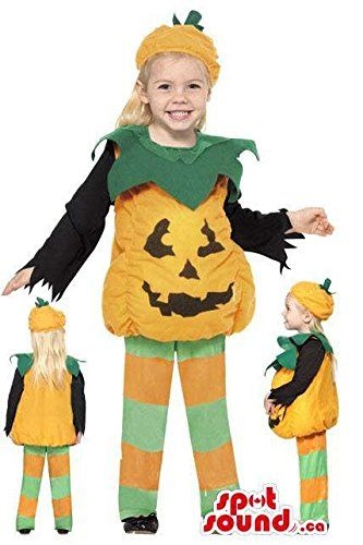 cute halloween pumpkin children size costume disguise halloween costumes for kids