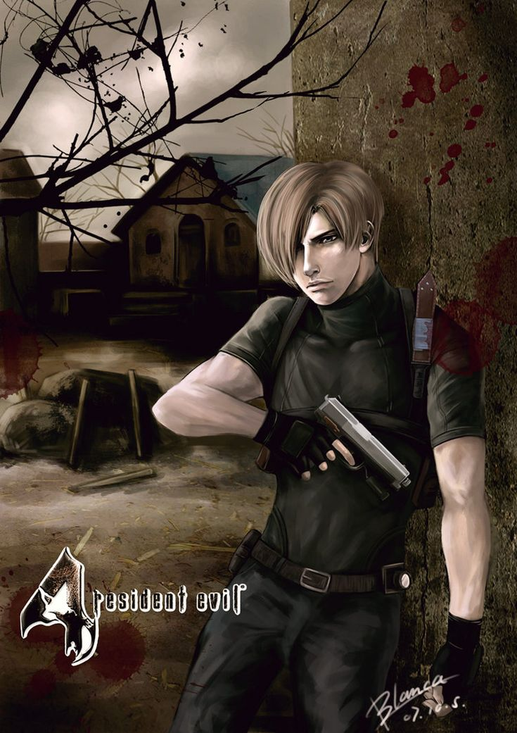 Resident evil 4 leon by rabbitblanca on deviantART