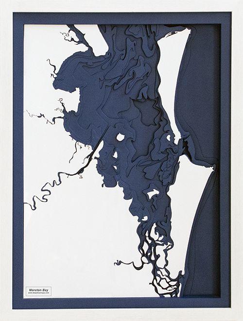 Brisbane Ceramic Maps — Deep Blue Maps