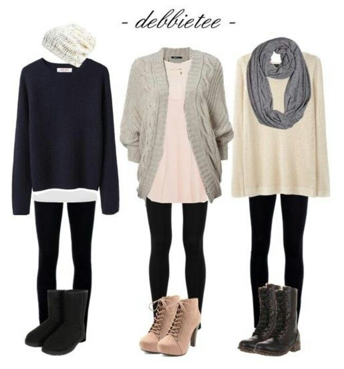 winter outfits ❄️⛄️ #winter_outfit   Love all three outfits. They have that American layered casual style I love so much and wear quite often. The only thing missing is a cool